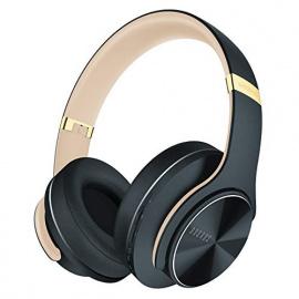 DOQAUS Casque Bluetooth sans Fil, [Jusqu 52 Heures] Pliable Casque Stéréo sans Fil Hi-FI, 3 Modes EQ, Protège-Oreilles Mous d