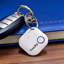Trecky Porte-clés Connecté pour Retrouver Tous Vos Objets  Clés,Portable,Tablette,Portefeuille,Sac.  Traqueur Sonore, Anti-Pe