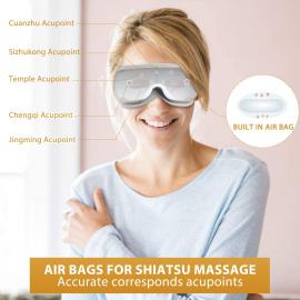 Breo Masseur Oculaire, Masque de Massage pour Détendre les Yeux par Pression dAir, Vibration et Chaleur, Soulage la Fatigue