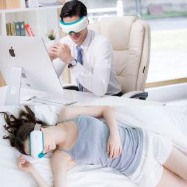 Breo Masseur des Yeux, Masque de Massage sans Fil pour Soulager les Yeux et les Tempes Douloureux et Fatigués - iSee3s