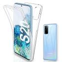Gnews Coque Compatible avec Samsung S20 Housse, Samsung S20 Coque Transparent Silicone TPU Case Intégral 360 Degres Full Body