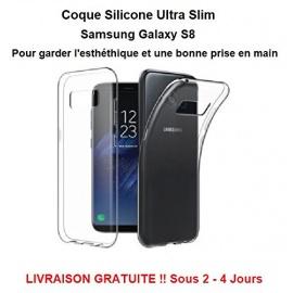 Repare multimedia 35 - Coque silicone Ultra Slim transparent Samsung Galaxy S8 Qualité Pro Livraison Gratuite