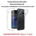 Coque Galaxy S8 silicone Ultra Slim transparent Samsung Qualité Pro Livraison Gratuite