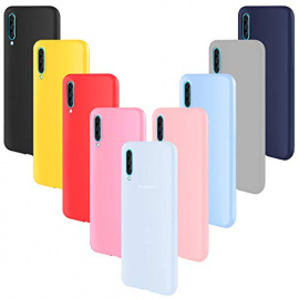 ivencase 9 × Coque Samsung Galaxy A70 Étui Silicone, Mince Souple TPU Housse Gel Coque pour Samsung Galaxy A70 Rose, Gris, Ro