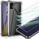 Leathlux Coque Compatible avec Samsung Galaxy A51 4G Transparente avec 3 Verre trempé Protection écran, Souple Silicone Étui