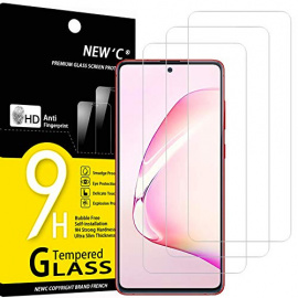 NEWC Lot de 3, Verre Trempé Compatible avec Samsung Galaxy S10 Lite, Note 10 Lite, Film Protection écran Ultra Résistant  0,