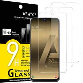 NEWC Lot de 3, Verre Trempé Compatible avec Samsung Galaxy A20e, Film Protection écran sans Bulles dair Ultra Résistant  0,