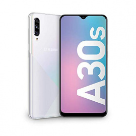 SAMSUNG Galaxy A30s Smartphone Portable débloqué 4Go de RAM / 64Go Double Sim Blanc