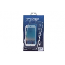 Coque iPhone 8 Coque transparente silicone et protection écran verre trempé anti-chocs anti-rayures
