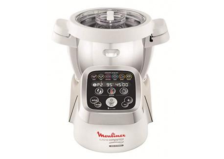Moulinex HF802AA1 Robot Cuiseur Multifonction Companion – 6 programmes automatiques, 5 accessoires inclus, capacité jusqu'à 6