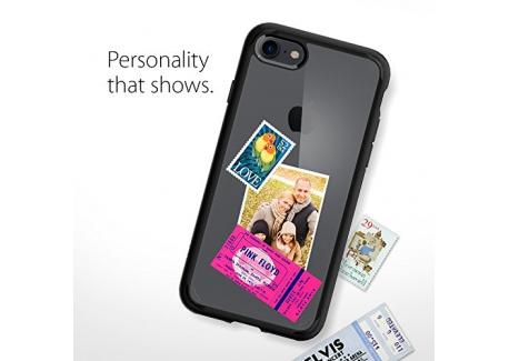 Coque iPhone 8, Coque iPhone 7 / 8, Spigen® [Ultra Hybrid 2eme generation] AIR CUSHION [Noir] Clear back panel + TPU bumper Coqu