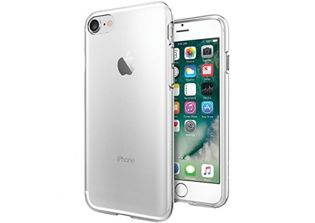 Coque iPhone 7, Coque iPhone 8, Spigen® [Liquid Crystal] Ultra Mince Premium TPU Silicone [Crystal Clear] Premium transparent /