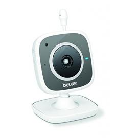 Babyphone Beurer BY 88 Vidéo de surveillance bébé WiFi pour Smartphone Tablette PC Gris Blanc