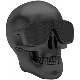 Veemoo Enceintes Sans fil Haut-parleur Crâne Bluetooth Haut-parleurs NFC Audio 4000 mAh Rechargeable Batterie (Noir)
