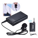 Ammoon Microphone cravate sans fil (Lavalier) à clip Amplificateur de voix pour conférences/discours/etc.