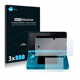 6x Savvies Film Protection pour Nintendo 3DS Protection écran Film Protecteur Transparent