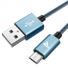 Câble USB Nylon en Filet 2.4A Samsung, HTC, Nexus,LG, Motorola, Huawei, Kindle