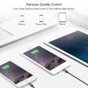 Câble iPhone USB 0.2 m Rampow® MFI certifié Apple en Fibre de Nylon Tressé - Charge rapide - Gris sidéral