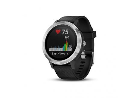Garmin Vivoactive 3 - Montre Connectée de Sport avec GPS et Cardio Poignet - Silver avec Bracelet Noir