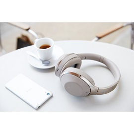 Sony MDR-1000X Casque sans fil Bluetooth réduction de bruit Hi-Res - Champagne