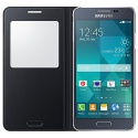 Coque Samsung S-View Case Cover for Samsung Galaxy Alpha - Noir