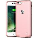 Coque Batterie pour iPhone 6/6s Coque de recharge portable ultra fine Wesoo 2500mAh pour iPhone 6/6s 4,7 pouces (Or rose)