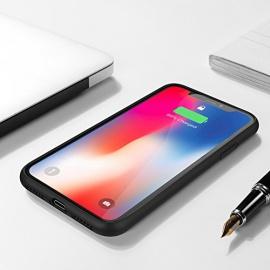 Coque Batterie iPhone X , Feeleye Premium 5000mAh Batterie longue durée sans fil Chargeur portable Batterie avec béquille pour i