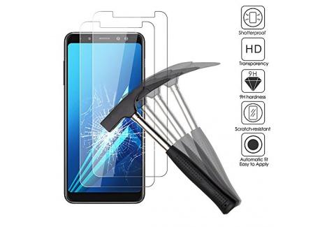 2 x Samsung Galaxy A8 2018 Verre trempé protecteur d'écran, EJBOTH téléphone protection écran haute définition cribler des films