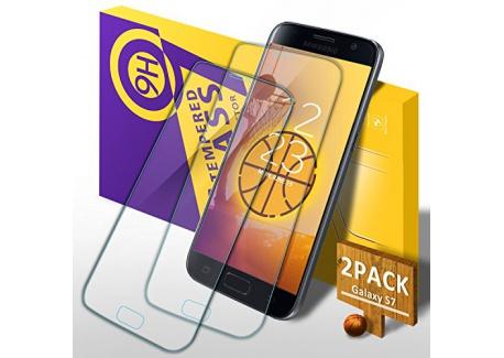 Dahuang Verre Trempé Galaxy S7, [Lot de 2] 3D Couverture Film Protection écran Protecteur Vitre, Anti Rayures, Ultra Résistant,