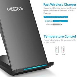 Chargeur Rapide Sans Fil,CHOETECH Qi Chargeur Station QC2.0 Chargeur à Induction Pour Galaxy note 8/ s8/s8 plus/ S7 Edge / S6 Ed