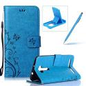 Coque ZenFone 2 Laser, Housse Étui en PU Cuir à Rabat Papillon Fleur de Motif en Folio Cover, Herzzer Book Style Wallet Case Cov