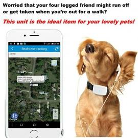 GPS tracker chat chien TKSTAR Mini traceurs GPS anti-perte suivi en temps réel pour petit chat chien enfants parents avec un col