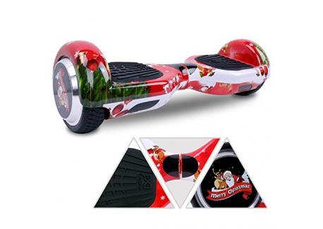Cool&Fun Self Balance Scooter 6,5 pouces Smart Skateboard Auto Électrique Gyropode de Boutique GyroGeek( Rouge, Motif Bonheur )