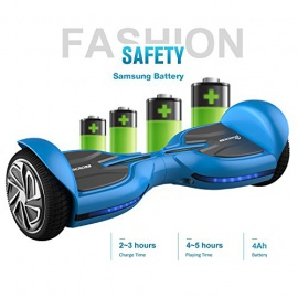 """EVERCROSS Q3 Hoverboard électrique 6,5"""" Skateboard électrique Gyropode Certifié Norme UL2272 Bleu"""