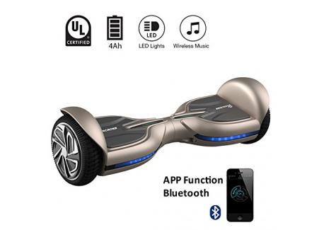 """EVERCROSS Q3 Hoverboard électrique 6,5"""" Skateboard électrique Gyropode Certifié Norme UL2272 (Marron)"""