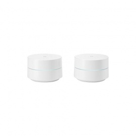 Google Wifi Pack de 2 Routeurs sans Fil Bluetooth Blanc