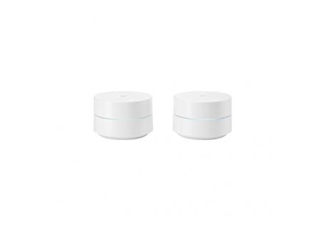 Google Wifi Pack de 2 Routeurs sans Fil Bluetooth Blanc