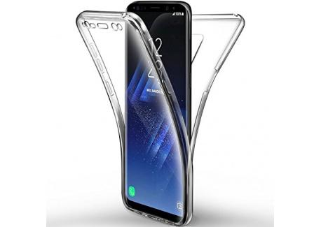 Coque Samsung Galaxy S9 Etui, Leathlux Transparent Silicone Gel Case Intégral 360 Degres Full Body Protection Anti-rayures Coque