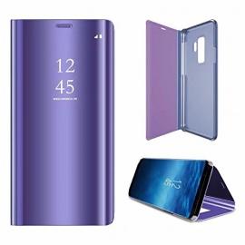 Sycode Miroir Coque pour Galaxy S9,Flip Case pour Galaxy S9,Coin Complet Protecteur Portefeuille étui pour Galaxy S9,Luxe élégan
