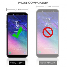 TERRAPIN Coque Samsung A6 2018, Étui Housse en Cuir Ultra-mince Avec La Fonction Stand pour Samsung Galaxy A6 2018 Étui - Noir