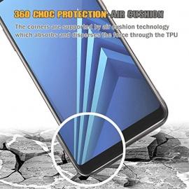Coque Samsung Galaxy A8 2018 360 Degres Protection INTEGRAL Anti Choc, Etui Ultra Mince