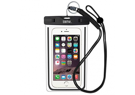 EOTW Housse étanche, Certifiée IPX8 pour Téléphone de taille égale et inférieure à 6'', argent, écran solaire bâton, carte/ID et