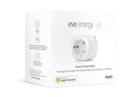 Eve Energy - Interrupteur et compteur de consommation sans fil avec technologie Apple HomeKit, Bluetooth Low Energy