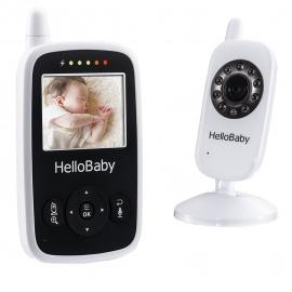 HelloBaby HB24 Moniteur Vidéo Sans fil Avec Appareil Photo Numérique, Surveillance de la Température de Vision Nocturne et Sy