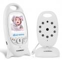 FLOUREON Moniteur Bébé sans Fil 2.4GHz Babyphone Écran LCD 2.0 Pouces Babyphone avec Caméra Vision Nocturne Grand Angle de Vu