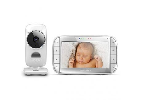 """Motorola MBP 48 - Babyphone vidéo avec grand écran 5.0"""", éco mode, vision nocturne et capteur de la température ambiante, cou"""