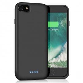 Coque Batterie pour iPhone 6/7/6s/8, 6000mAh Chargeur Portable Batterie Externe Puissante Power Bank Coque Rechargea