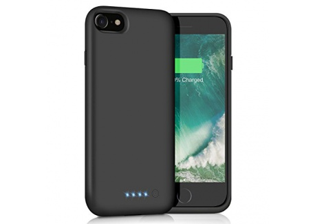 iposible Coque Batterie pour iPhone 6/7/6s/8, 6000mAh Chargeur Portable Batterie Externe Puissante Power Bank Coque Rechargea