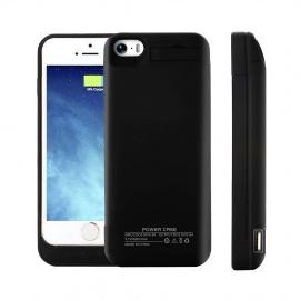 Coque Batterie iPhone 5 5S 5C Se 4200mAh Coques dalimentation Externe de Secours Rechargeable avec Support Noir