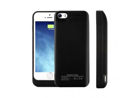 himaly Coque Batterie pour iPhone 5 5S 5C Se 4200mAh Coques dalimentation Externe de Secours Rechargeable avec Support Noir